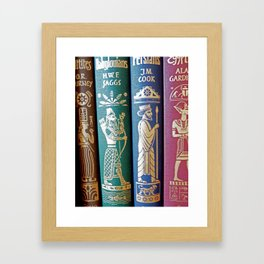 Vintage Books - Ancient Civiliations Framed Art Print