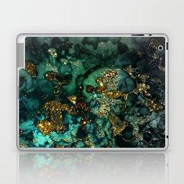 Gold Indigo Malachite Marble Laptop & iPad Skin