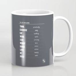 Lab No. 4 - Fill in the blanks.. Exercise timetable schedule Inspirational Quotes Poster Coffee Mug