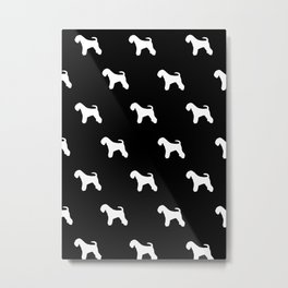 MINISCHNAUZER BLACK Metal Print