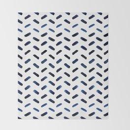 Blue Indigo Series - Stroke Pattern Throw Blanket