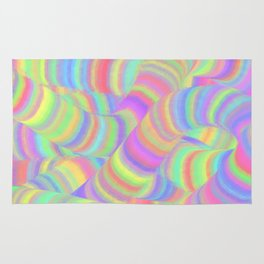 pastel worms Rug