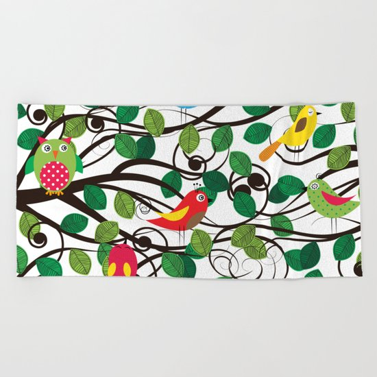 Birds Beach Towel