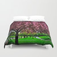 cherry Duvet Covers featuring cherry by LeicaCologne Germany
