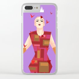 Sasha Velour among rose petals Clear iPhone Case