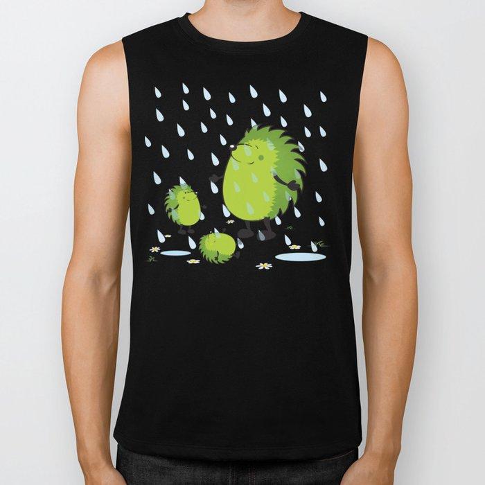 happy when it rains Biker Tank