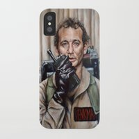 murray iPhone & iPod Cases featuring Bill Murray / Ghostbusters / Peter Venkman by Heather Buchanan
