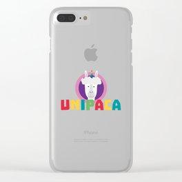 Alpaca Unicorn Unipaca B4srx Clear iPhone Case