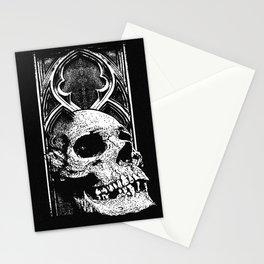 Gothic Skull white ink Stationery Cards
