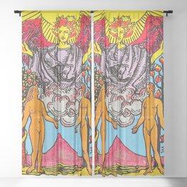 The Lovers Tarot Card Sheer Curtain