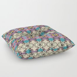 CVF0066 Swirls and Flowers Floor Pillow