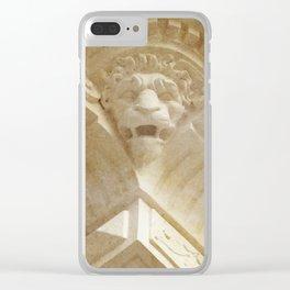 Lion Gargoyle Clear iPhone Case