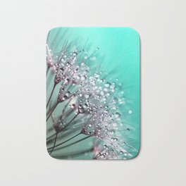 Diamond Blue Water Droplets Bath Mat
