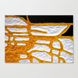 Gold Flow Abstract tetkaART Canvas Print