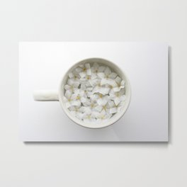 Flowers in my Coffee Cup Metal Print
