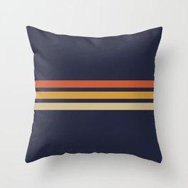 Vintage Retro Stripes Throw Pillow
