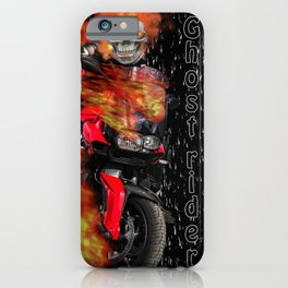 Fire Man Ghost Rider iPhone Case