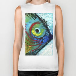 Tropical Fish - Colorful Beach Art By Sharon Cummings Biker Tank