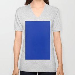 color Egyptian blue Unisex V-Neck