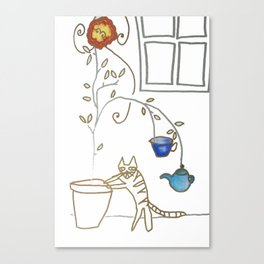 Cat in the Kitchen Canvas Print