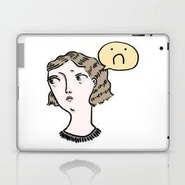 Sad Girl Emoji Laptop & iPad Skin