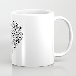 I Love Music | Musical Symbols Musician Coffee Mug