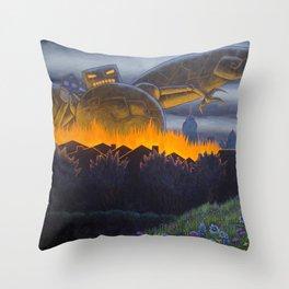 Evil Robot Throw Pillow