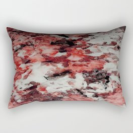The Faces in the Ruby Red Snow Rectangular Pillow