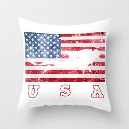 USA Diving- Flag of America Throw Pillow