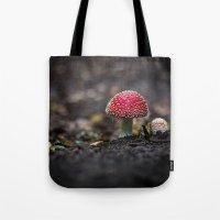 mushroom Tote Bags featuring mushroom by Kalbsroulade