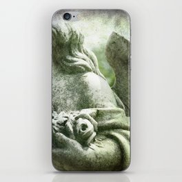 Angelic Cherub Looks Over The Headstones iPhone Skin