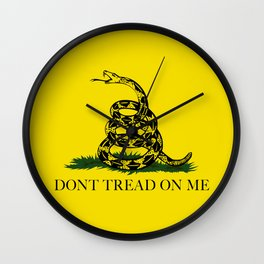 Gadsden Don't Tread On Me Flag Wall Clock