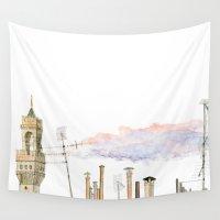 italian Wall Tapestries featuring Italian Chimneys by Maiko Horita