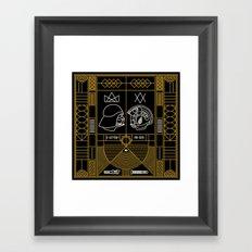 Galactic Balance  Framed Art Print