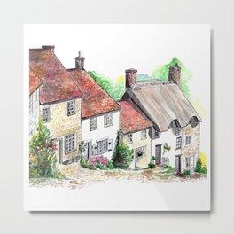 Gold Hill, Shaftesbury, Dorset, England Metal Print
