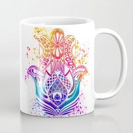 Hamsa Splatter Coffee Mug