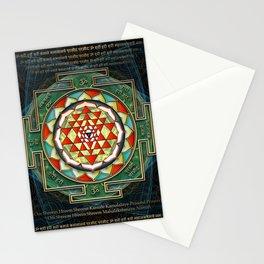 Maha Lakshmi (Laxmi) Mantra & Shri Yantra - Wealth Giving Stationery Cards