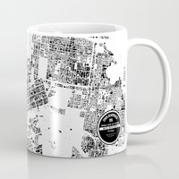 melbourne Mugs featuring MELBOURNE by Maps Factory