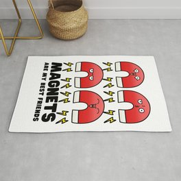 Magnets are my best friends - science jokes Rug