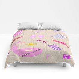 BEACH LIFE I LOVE YOU! Comforters
