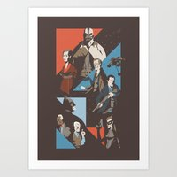 pain Art Prints featuring Pain by Florey