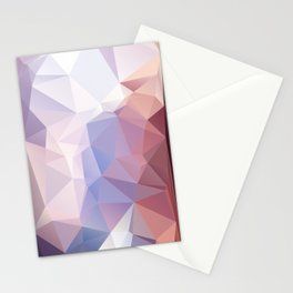 Soft Pink Purple Abstract Pyramid Pattern Stationery Cards