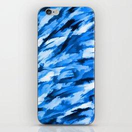 Blue Designer Camo iPhone Skin