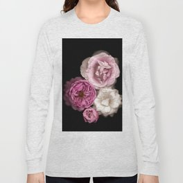 Purple, Pink, and White Roses Long Sleeve T-shirt