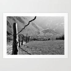 Valley of River Sno   (b/w) Art Print