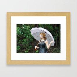 Pink Umbrella Framed Art Print