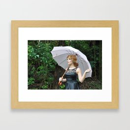 Pink Umbrella Framed Art Print