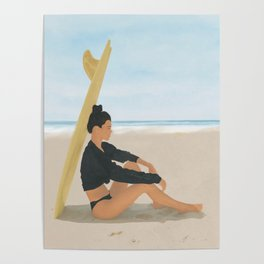 Surfboard Shade Poster