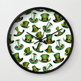 Leprechaun hats pattern  Wall Clock