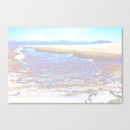 mountain+sea Canvas Print